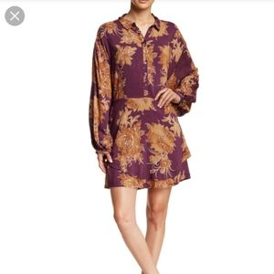 Free People Shake It Mini Dress In Berry Combo